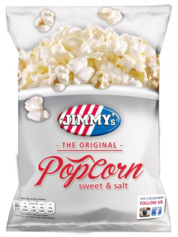 JIMMY'S popcorn Original sweet & salt