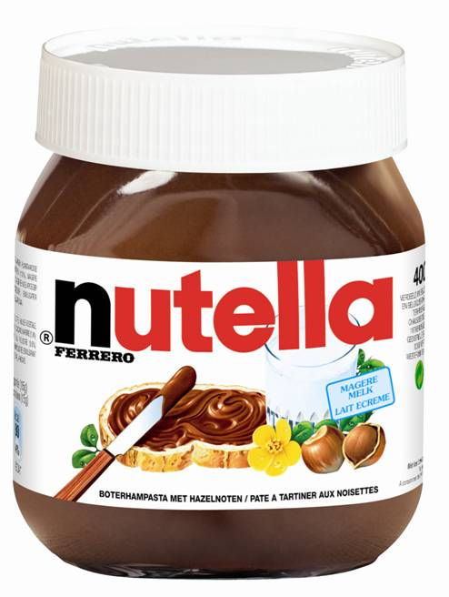 ferrero nutella 400 gram de rooij groothandel in levensmiddelen. Black Bedroom Furniture Sets. Home Design Ideas