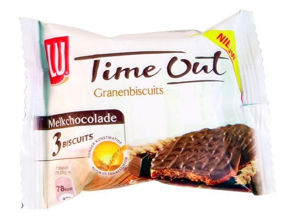 Lu Time Out granenbiscuits choco single