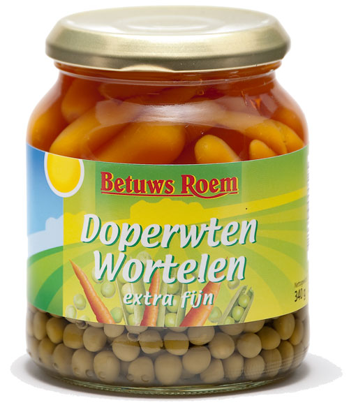 Betuws Roem Doperwt/Wortel 720 ml